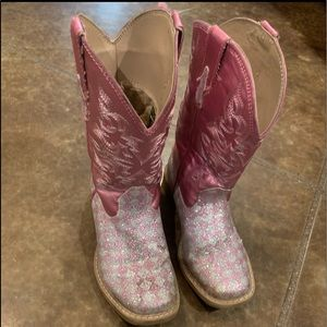 Roper pink/glitter cowgirl boots size 12